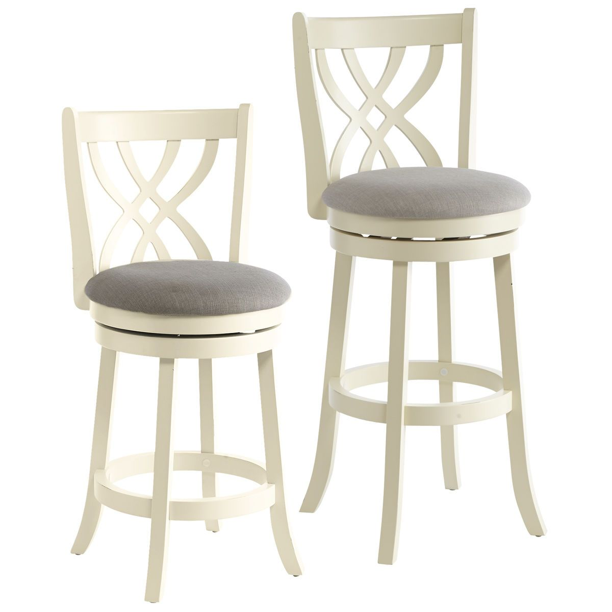 Holbrook White Swivel Counter Bar Stool Counter Bar Stools