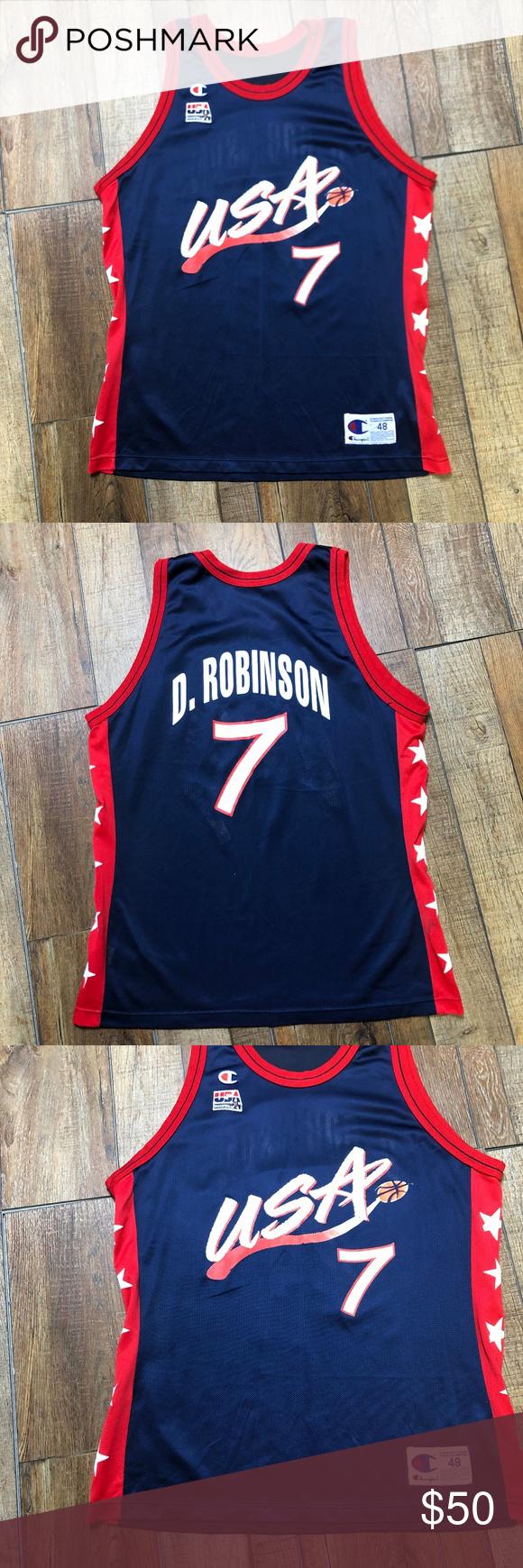low priced 99daf 121b9 David Robinson USA Dream Team Olympics NBA Jersey Perfect ...