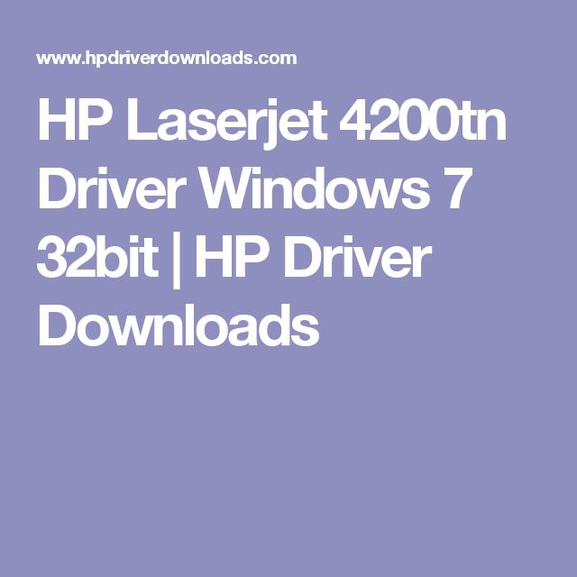 drivers windows 7 32 bit hp