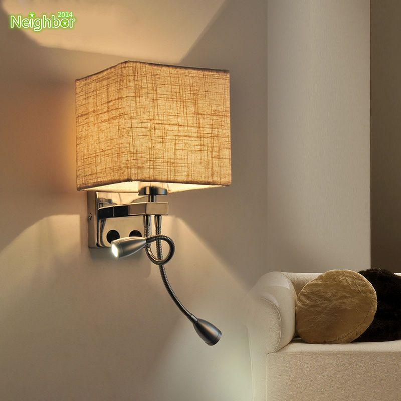 Modern LED Cloth Wall Lamp Wall sconce Light Hallway Bedroom Bedside Lighting
