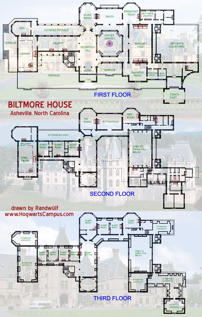 Biltmore Estate Floor Plan Castle Floor Plan Minecraft House Plans House Floor Plans