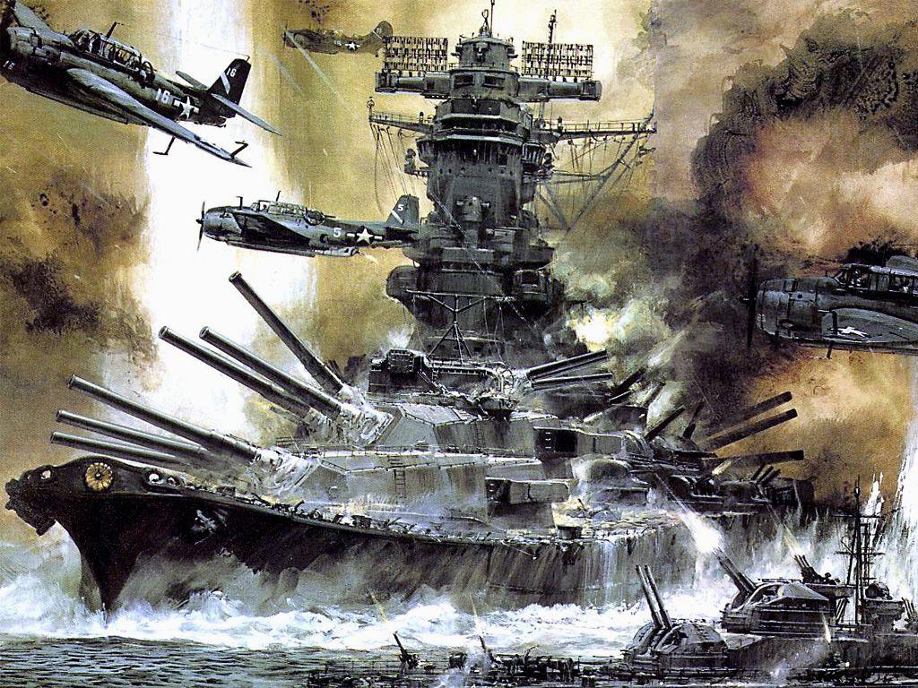 ww2 battleship wallpaper free #piw | military art