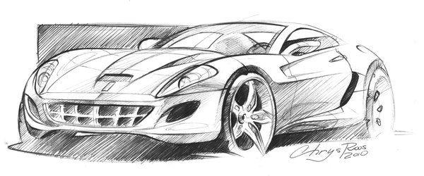 Ferrari sketch by ChrysRoos.deviantart.com on @deviantART