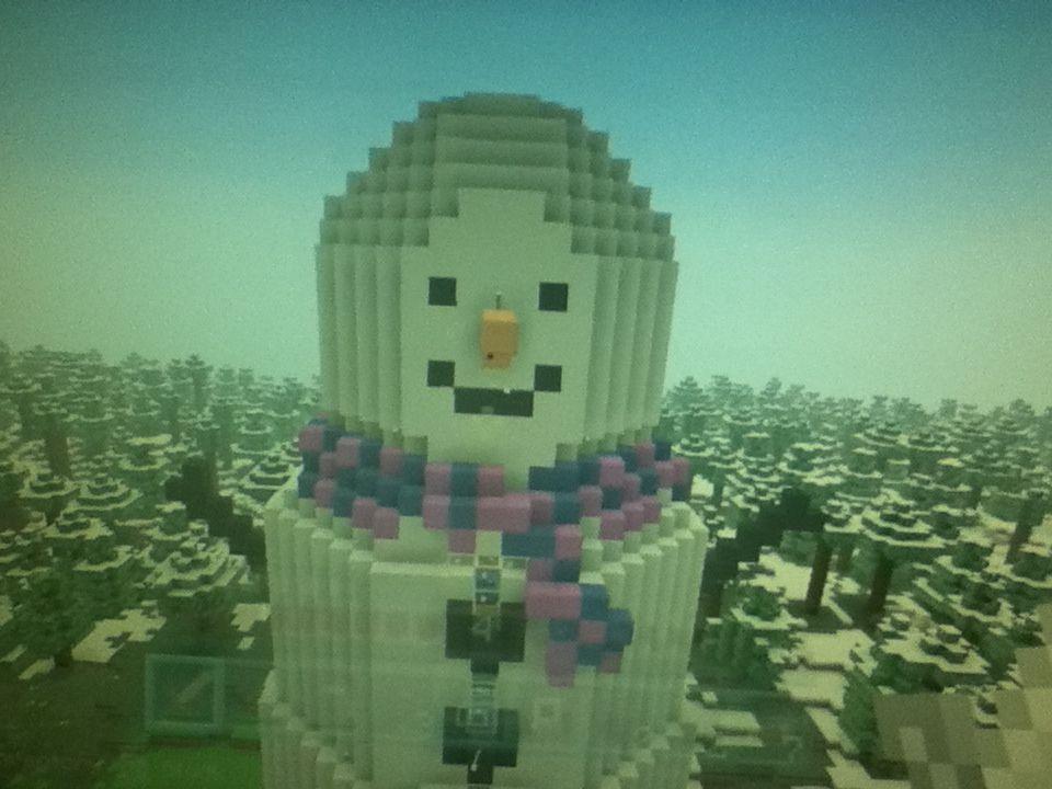 Snowman in minecraft watch iballisticsquid or