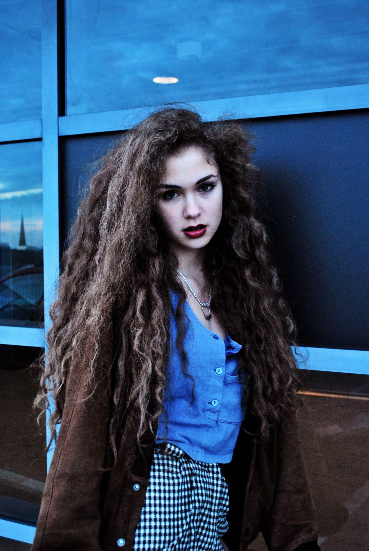 long curly hair indie punk goddess