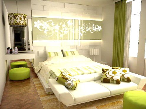 Green And Brown Bedroom Interesting Beautiful Bedroom Adore The Pops Of Green  Bedroom  Pinterest Design Inspiration