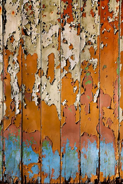 Beauty in Decay - colorful paint & rust - peeling, colour & surface…