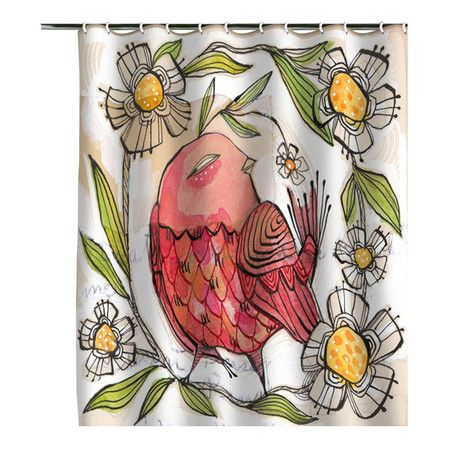 I pinned this Not A Turkey Shower Curtain by Cori Dantini from the Cori Dantini event at Joss and Main!