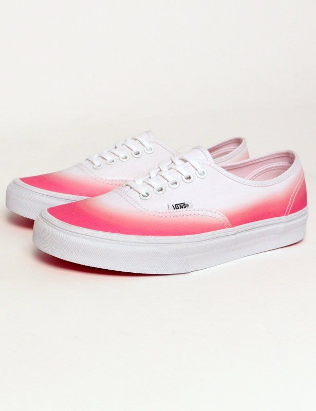 Vans Pink True White Ombre Authentic Pink