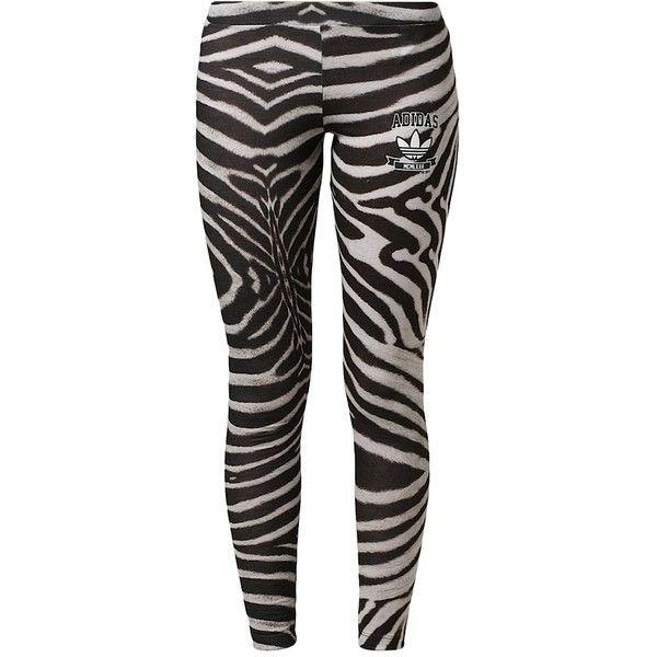 83e947523b0 adidas Originals ZEBRA Leggings (93 BRL) ❤ liked on Polyvore featuring pants,  leggings, calças, träna, black, cotton trousers, adidas originals pants,  ...
