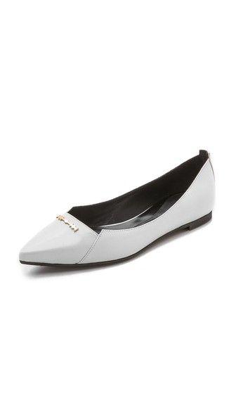 McQ Alexander McQueen Black & White Ballerina Flats ZRePpzafm