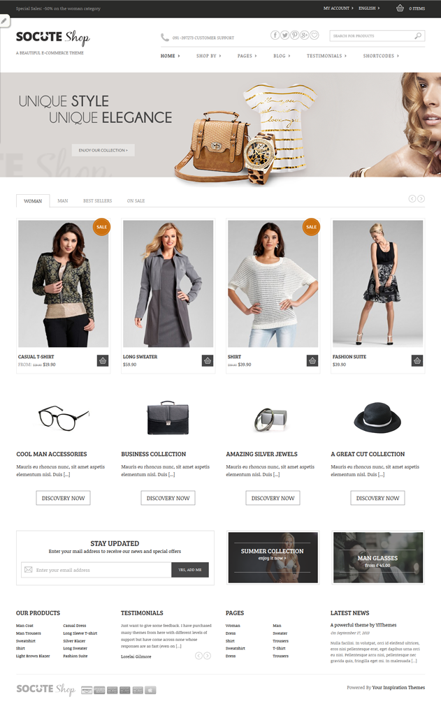 Scout is minimal #WordPress #theme for #ecommerce online #shop. It ...
