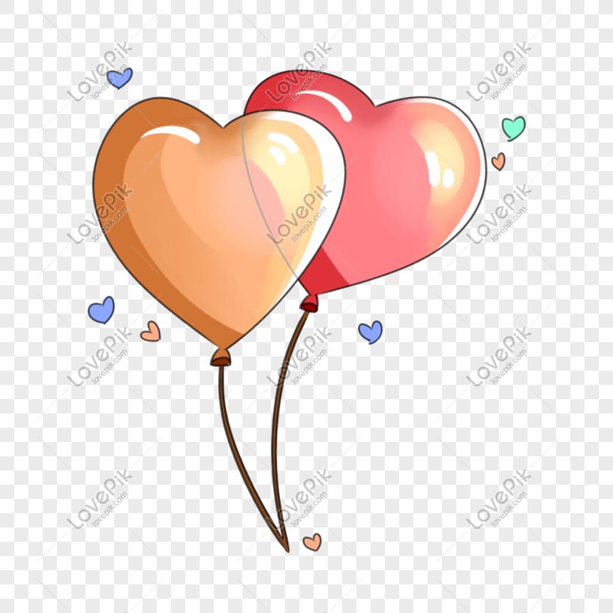بالونات عيد الحب التوضيح Balloon Illustration Balloons Illustration