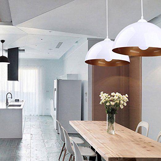 BAYTTER® Design 2x Industrielle Vintage LED Pendelleuchte - led leuchten wohnzimmer