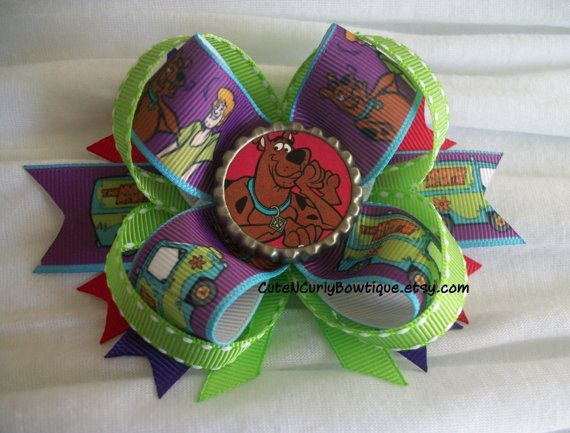 Handmade Scooby Doo Hairbow Hair bow