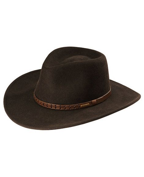 2384ba43a2f1d OR this --  Stetson Sturgis pinchfront crushable wool felt hat ...
