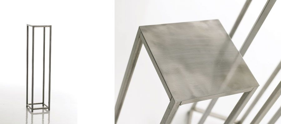 Brushed metal accent table the casbah accentdecor