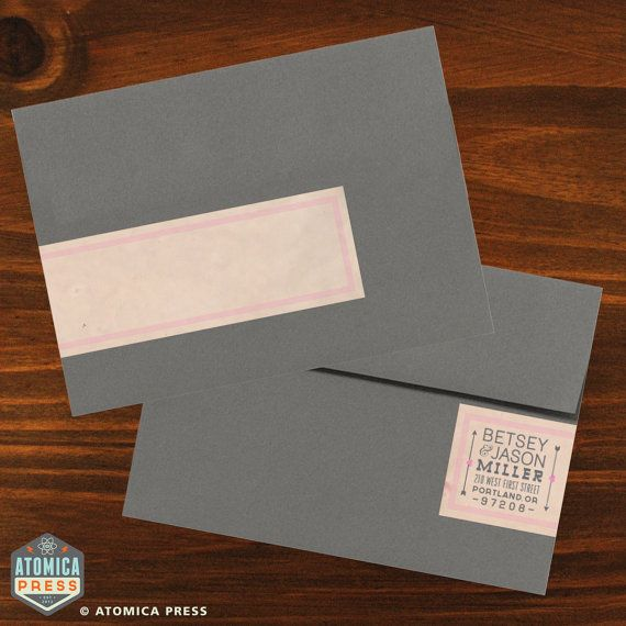 DIY Printable Personalized Envelope Wrap Around Address Labels Version 2