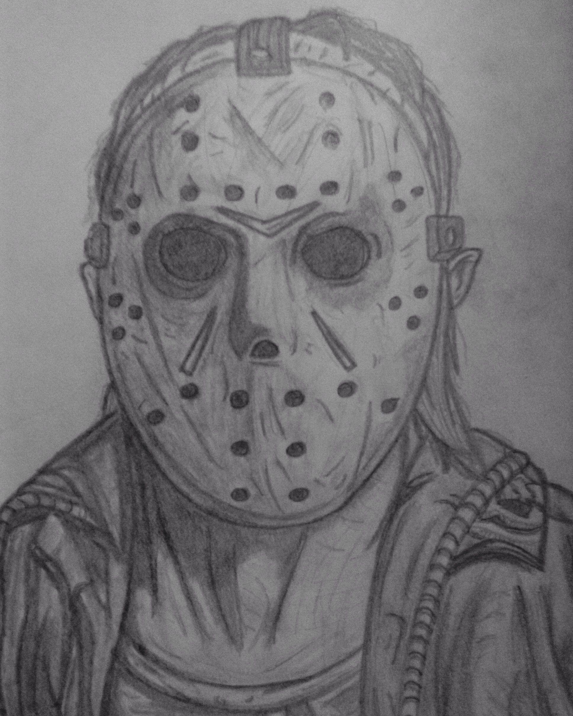 Jason Friday The 13th Drawing : jason, friday, drawing, Friday, Jason, Voorhees., Voorhees, Drawing,, Chucky, Drawing