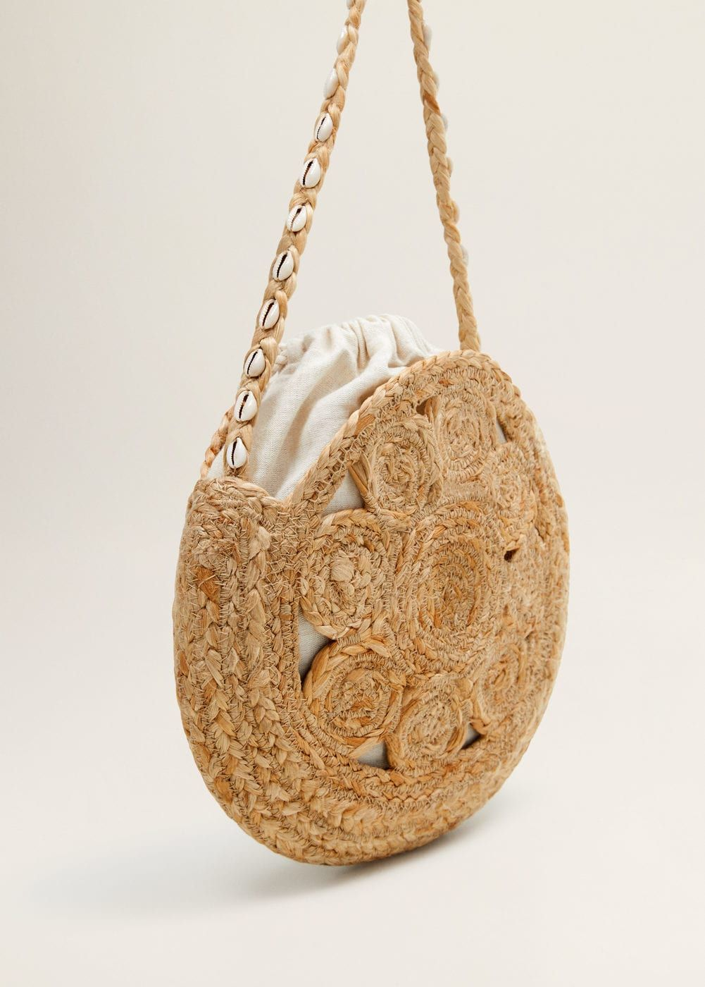 1630a23d0 Round jute bag - Women in 2019 | Bolso | Jute bags, Bags, Jute