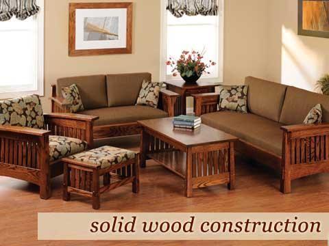 Amish Furniture Custom Solid Wood Oak Maple Cherry Furniture