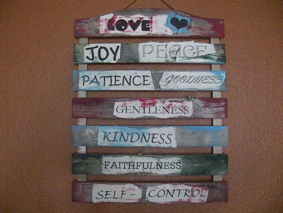 Fruit Of The Spirit Wall Hanging By Createdwithlace On Etsy 55 00