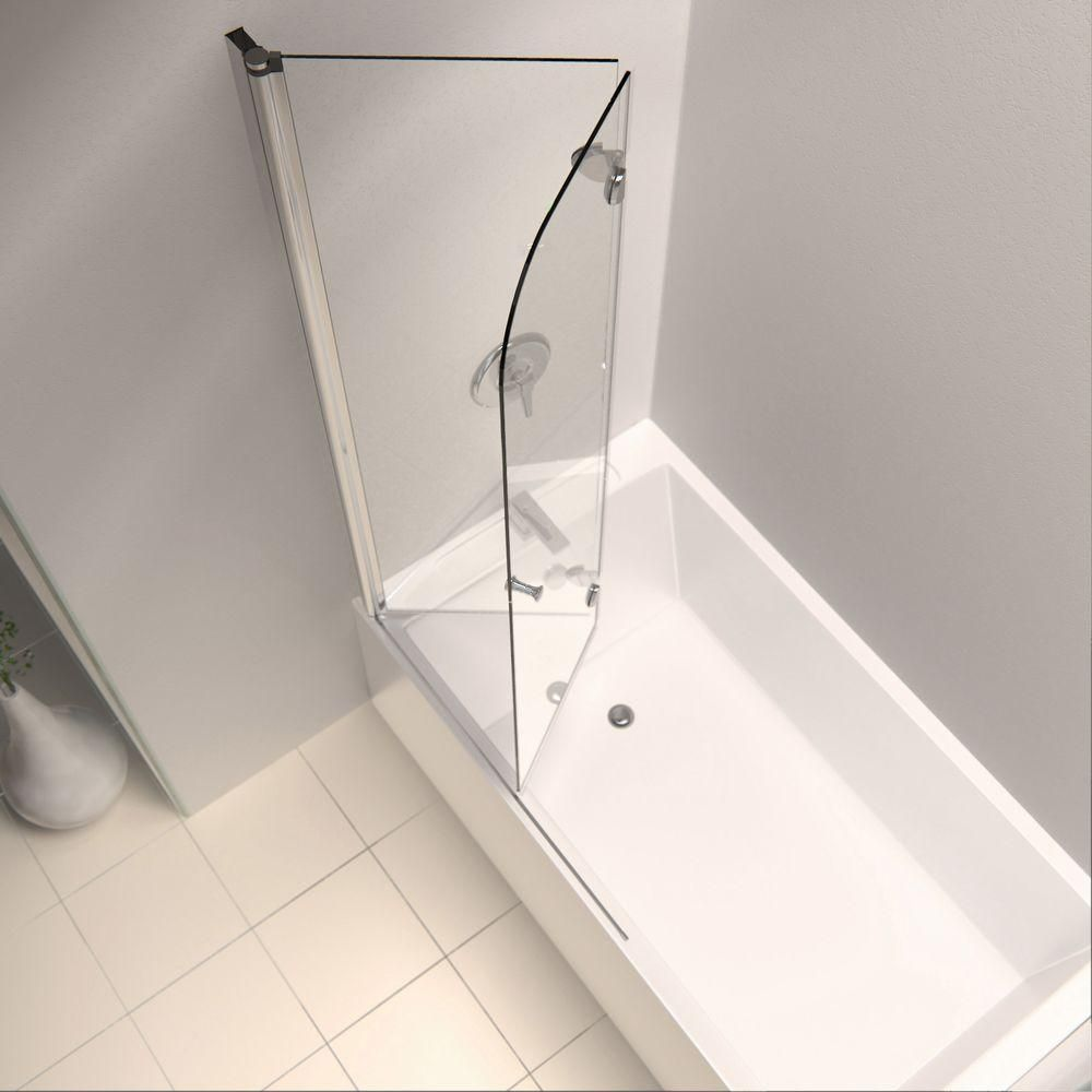Dreamline Aqua Fold 36 In X 58 In Frameless Hinged Tub
