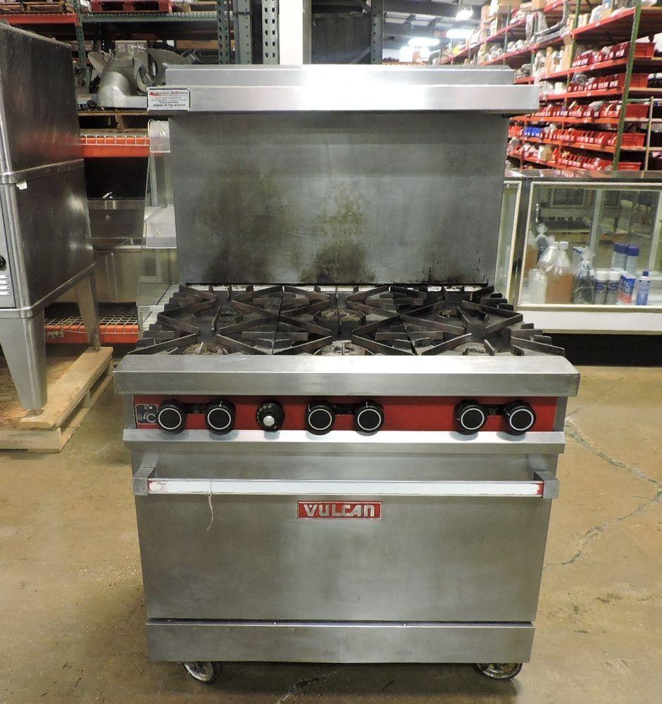 Vulcan 36l 571 Commercial 6 Burner Gas Range W Standard Oven