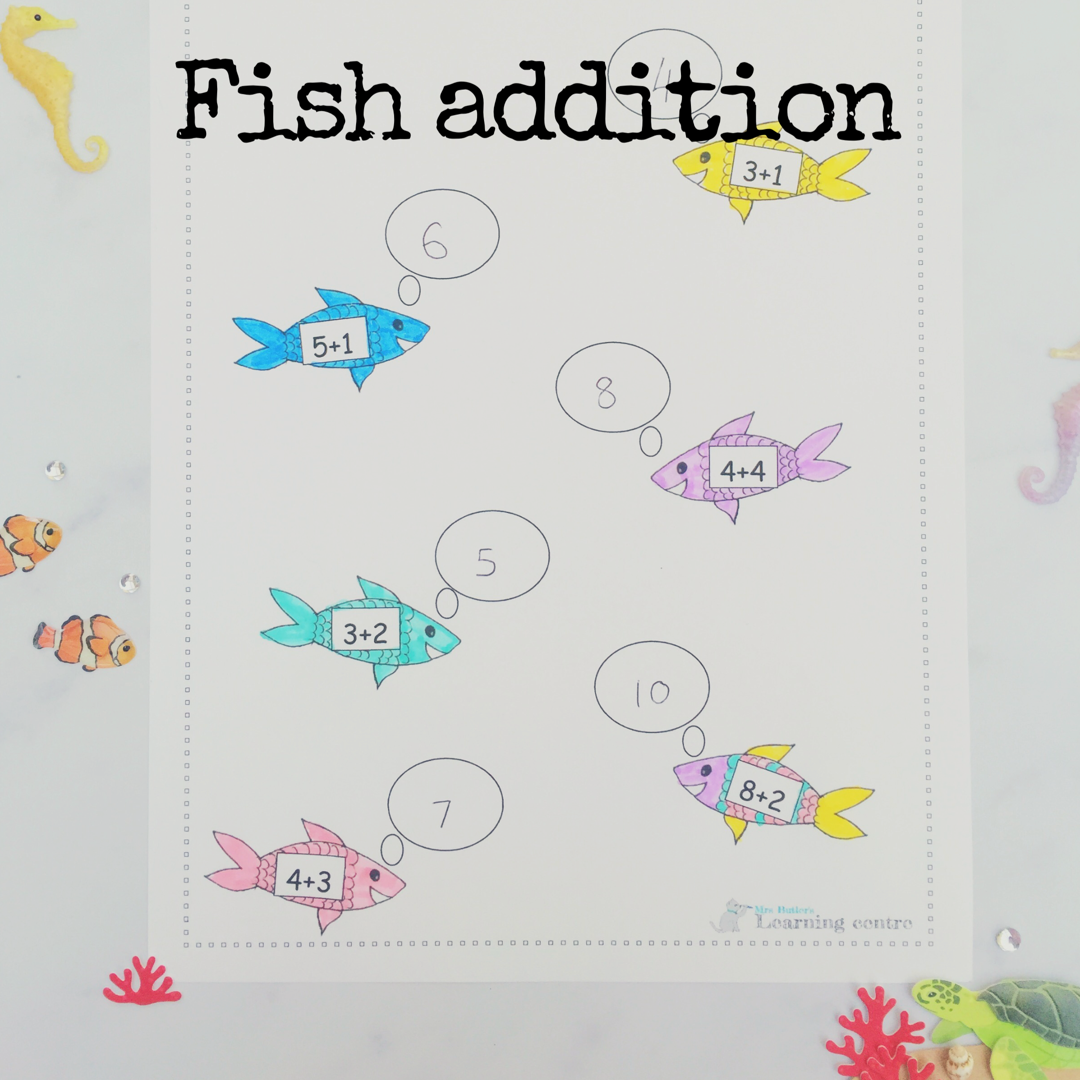 Fish Addition Under The Sea Resources Maths Resources