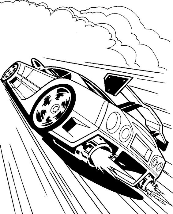 Stock Car Coloring Pages Display
