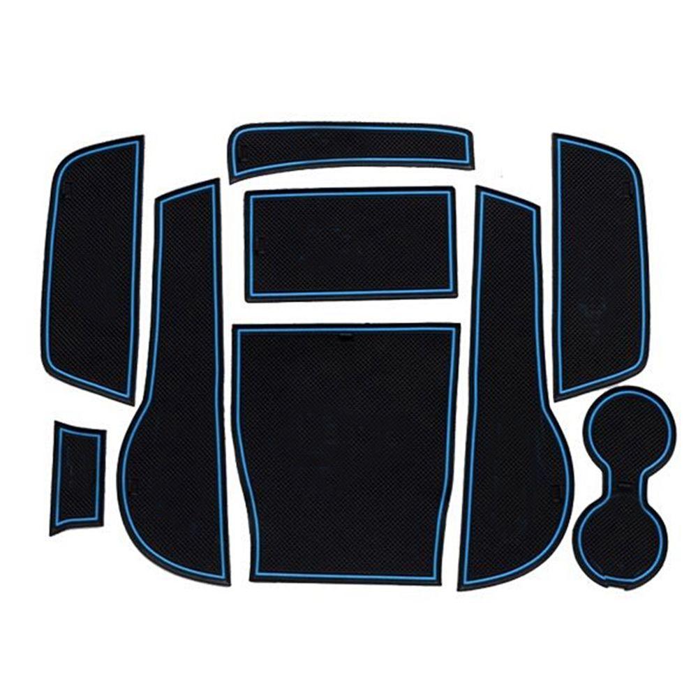 Car styling non slip interior door pad cup mat door gate slot mats