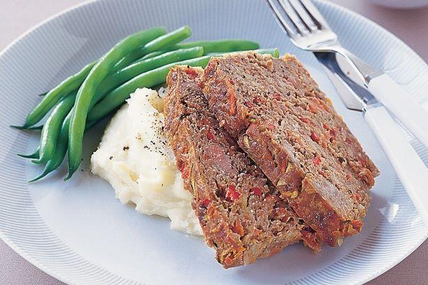 Pork And Vegetable Meatloaf Recipe Meatloaf Vegetable Meatloaf Pork Recipes