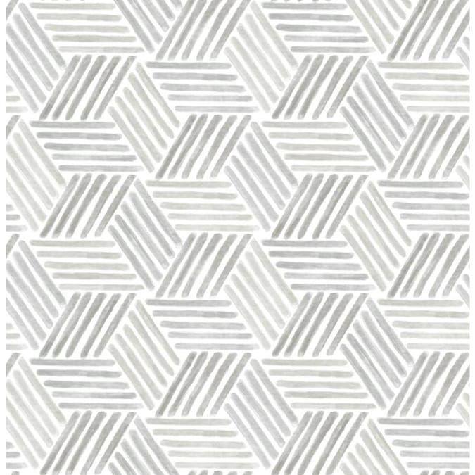Scott Living 30 75 Sq Ft Taupe Grey Vinyl Geometric Self Adhesive Peel And Stick Wallpaper Lowes Com In 2020 Peel And Stick Wallpaper Self Adhesive Wallpaper Geometric Wallpaper
