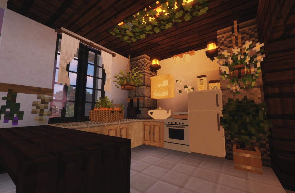 Cottagecore Minecraft Google Search Minecraft Cottage Cottage Cottage Kitchen