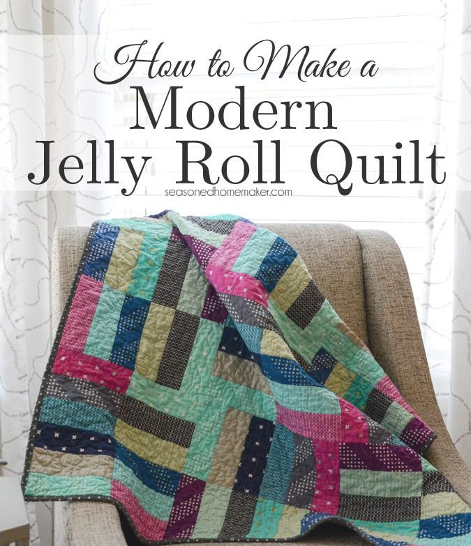 How To Make A Simple Jelly Roll Quilt Things To Sew
