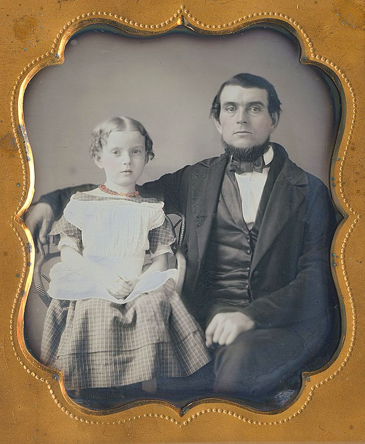 """George Buell born April 2 1821 - his daughter Ella born Oct. 25 1850 & died Jan. 27- 1925"""