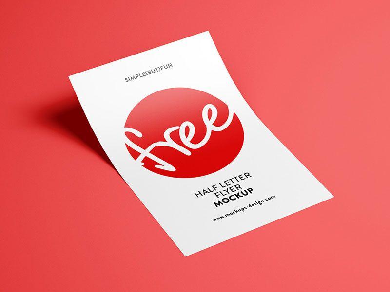Half Letter Flyer Psd Mockup Flyer Mockup Photoshop Mockup Free Flyer Mockup Free