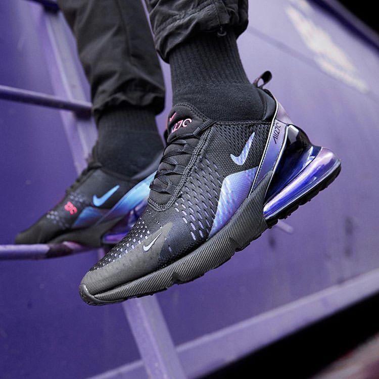 Nike Air Max 270 noir laser fuchsia femme Chaussures