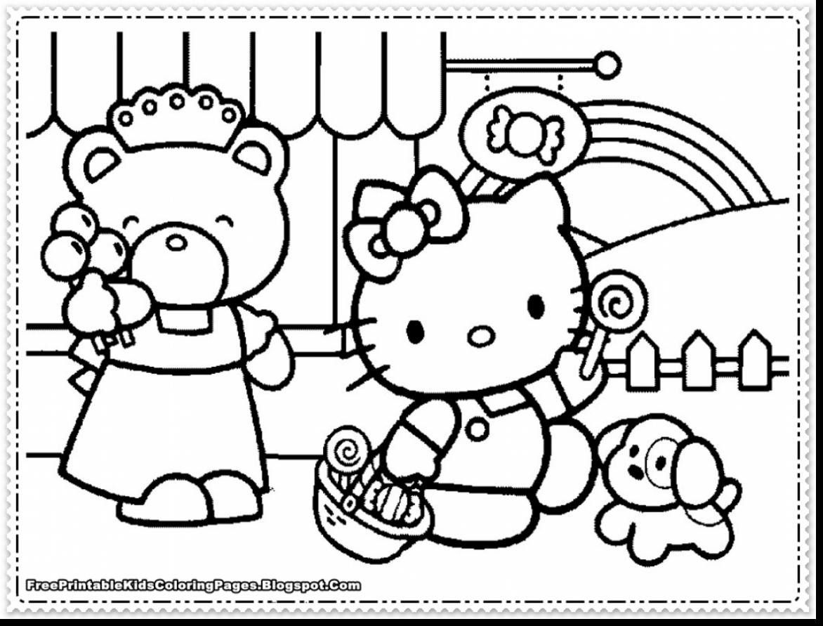 Hello Kitty Coloring Pages Pdf Hello Kitty Trang To Mau Sach To Mau