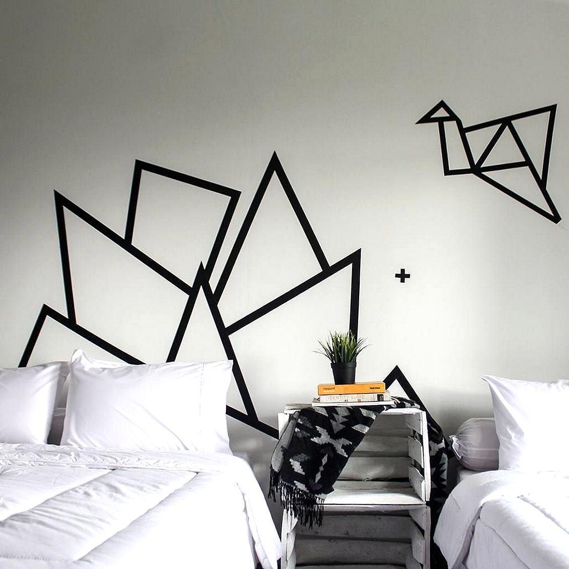 Diy Hiasan Dinding R Tidur Dari Selotip