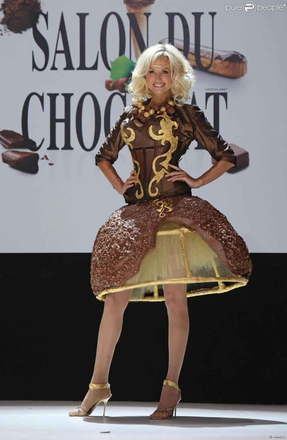 Image de robe en chocolat