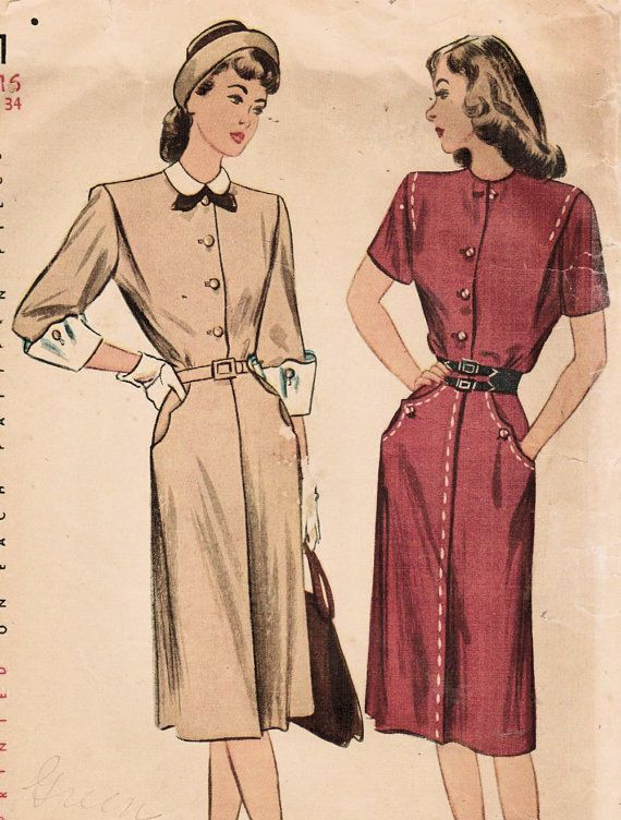 1940s Simplicity 1891 Vintage Sewing Pattern by midvalecottage, $14.00