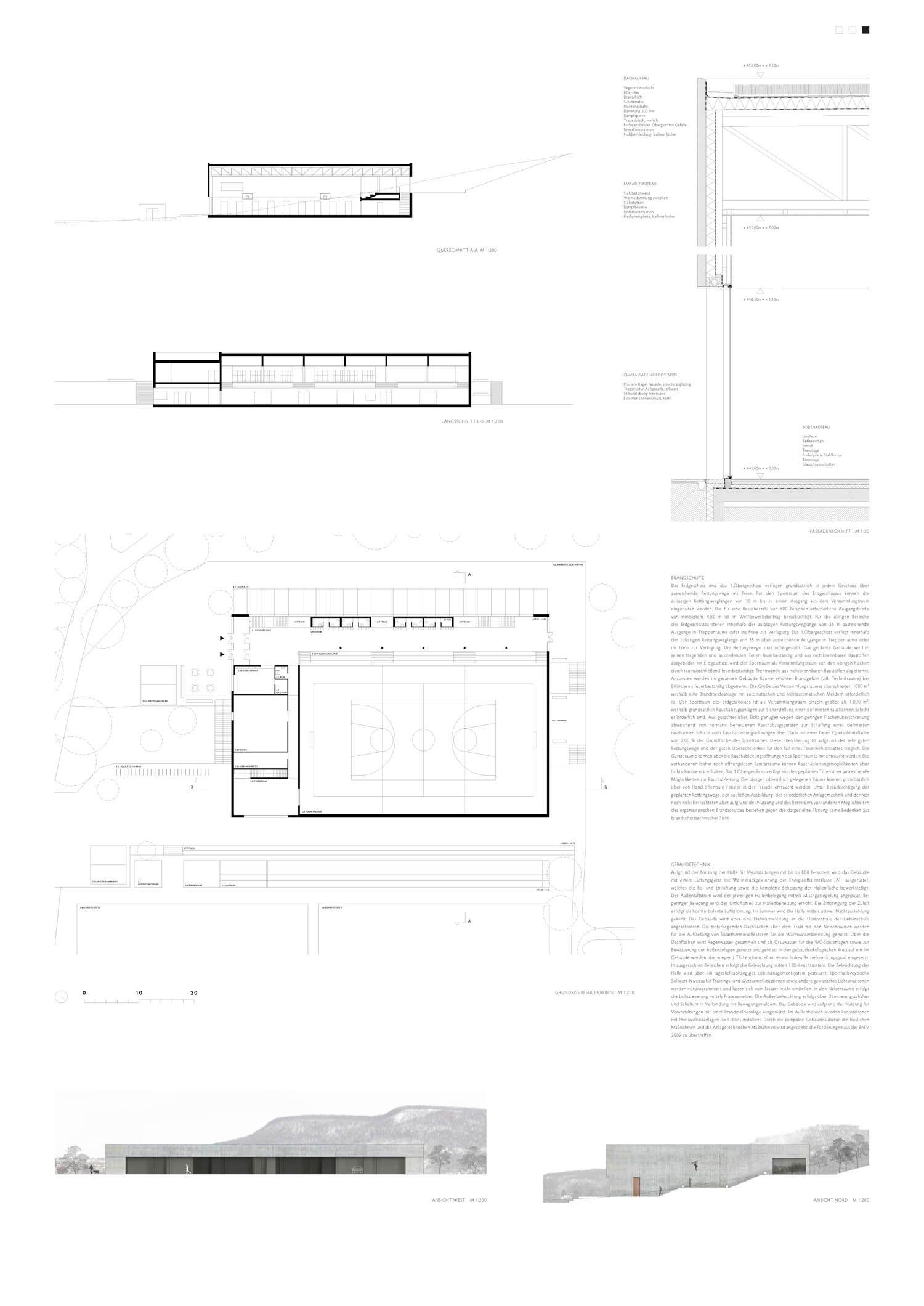Neubau einer Dreifeldsporthalle ... 120261 | competitionline - Wettbewerbe und Architektur