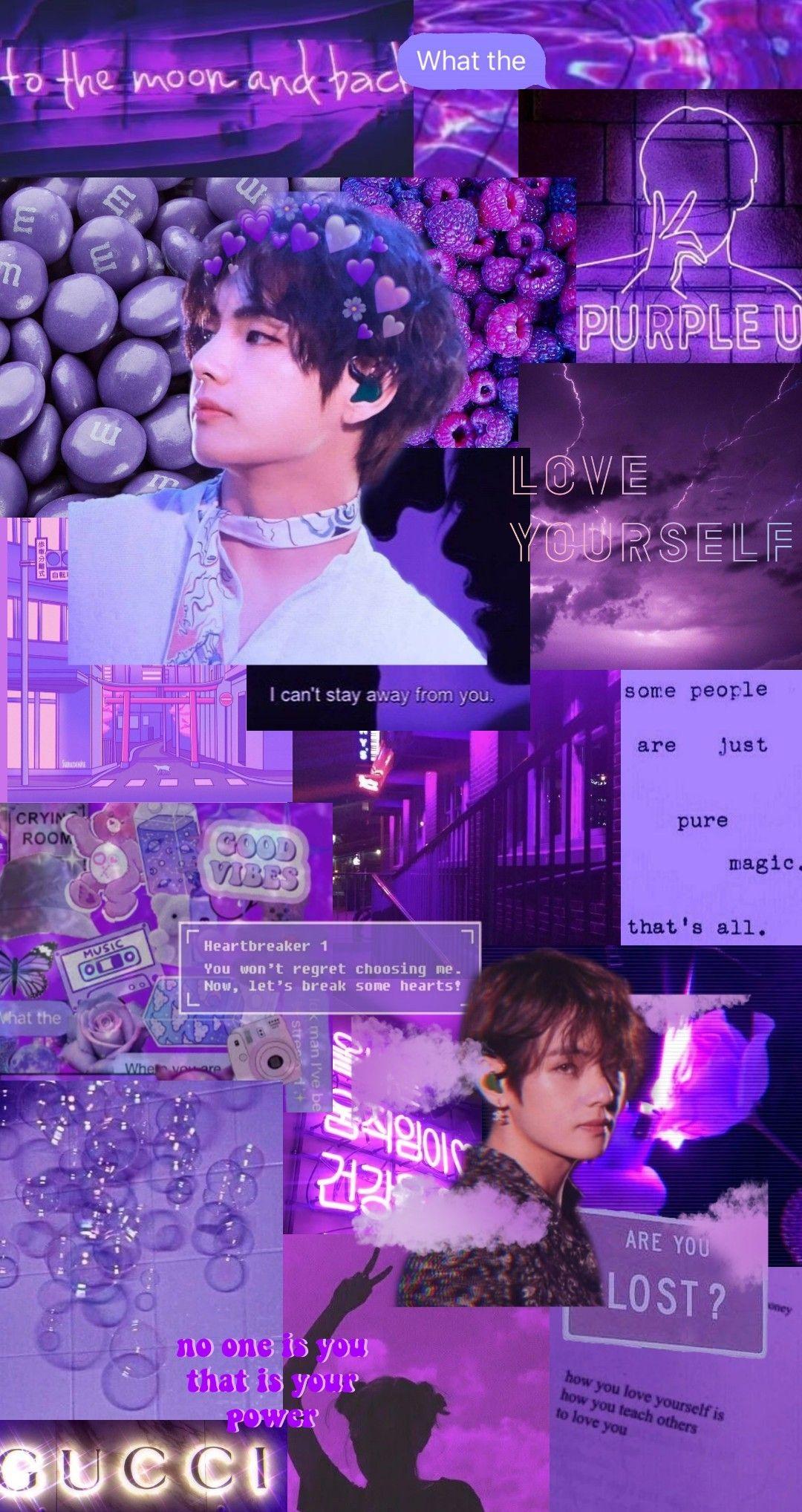 V Purple Aesthetic In 2021 Bts Walpaper Bts Taehyung Bts Wallpaper Lyrics Bts taehyung aesthetic wallpaper