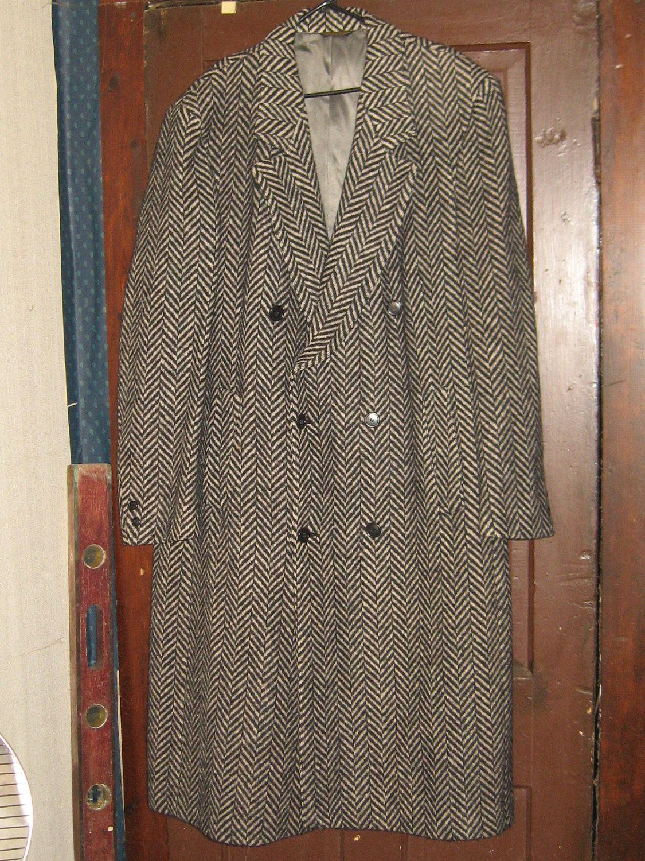 mens vintage pierre cardin wool herringbone blazer