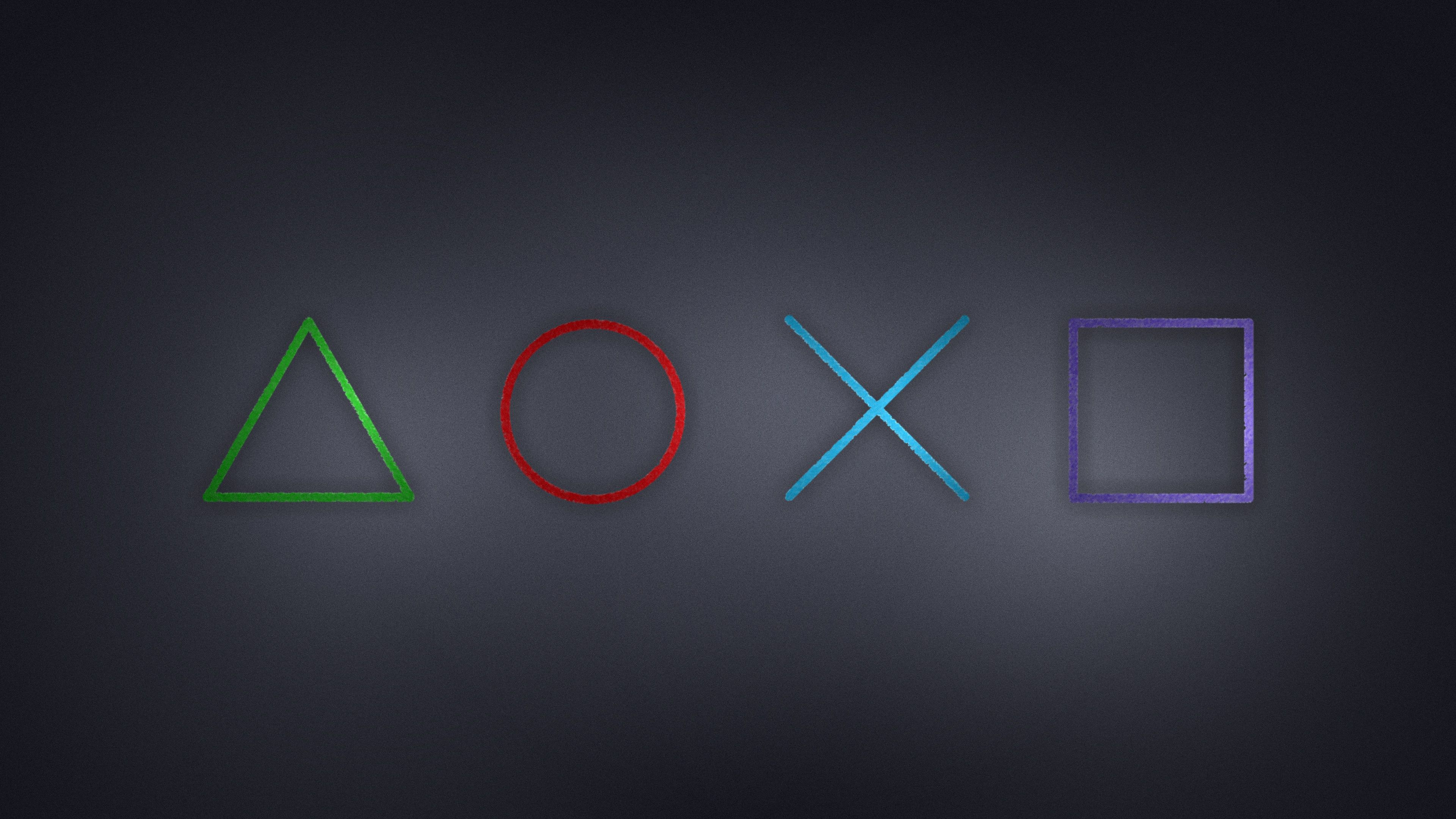 Another Wallpaper With The Playstation Symbols 4k Image