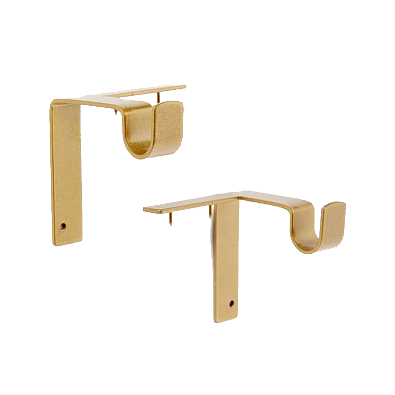Single Curtain Rod Brackets With Images Hanging Curtain Rods