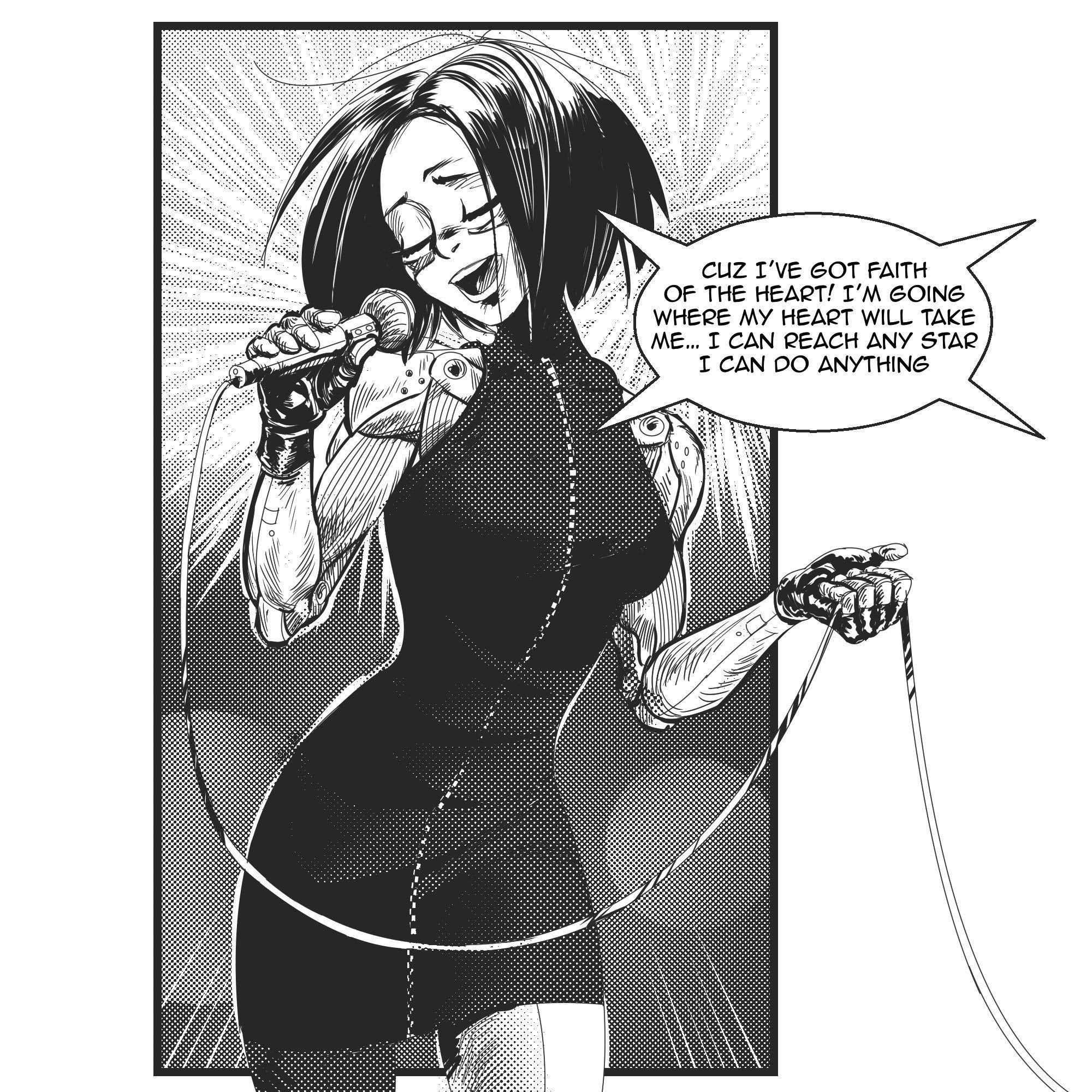 Pin by 𝓜𝓪𝓼𝓴𝓮𝓭 𝓜𝓪𝓲𝓭𝓮𝓷(ギネ) on Alita battle angel manga