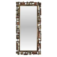 Brutalist Style Wall Mirror