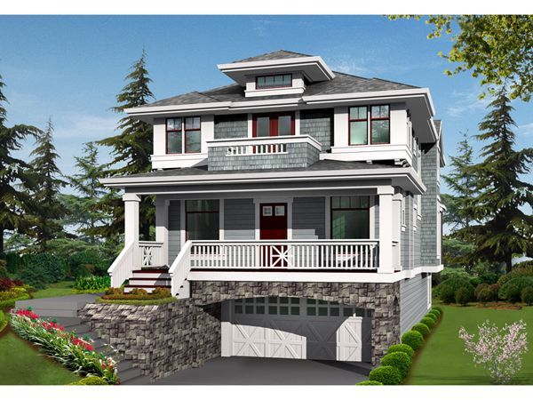 Lindley Forest Two Story Home. Plan 2300JD  Northwest House Plan for Narrow Corner Lot   Feelings